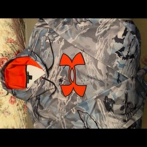 Under Armour Blue cammo hoodie